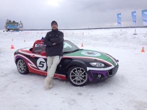 Mazda MX-5 ice race. Pic: Steve Maciver